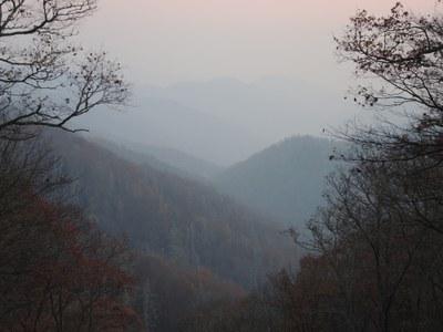 Smoke from Western North Carolina Wildfires