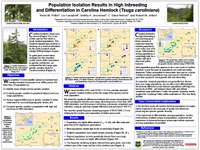 Population Isolation Results in High Inbreeding and Differentiation in Carolina Hemlock (Tsuga caroliniana)