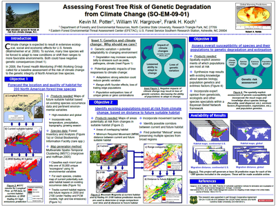 Assessing Forest Tree Risk of Extinction and Genetic Degradation from Climate Change
